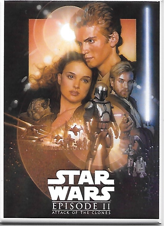 Star Wars Episode II Attack of the Clones Movie Poster Image Refrigerator Magnet picture