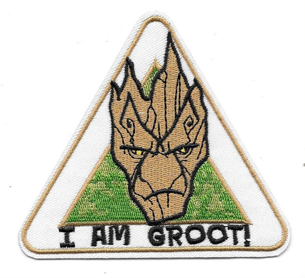 Guardians of the Galaxy I Am Groot! Face Image Embroidered Patch NEW UNUSED