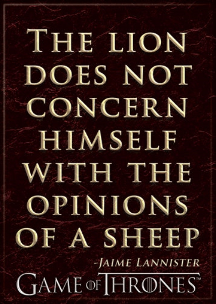 Game of Thrones The Lion Does Not Concern Himself Quote Refrigerator Magnet NEW