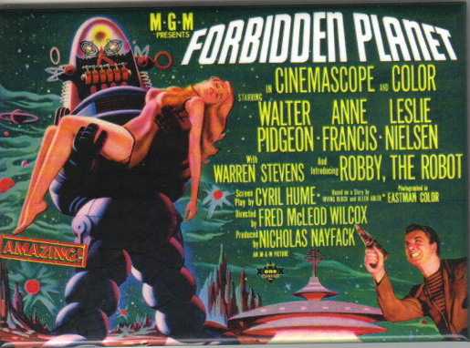Forbidden Planet Classic Movie Poster Image Refrigerator Magnet, NEW UNUSED