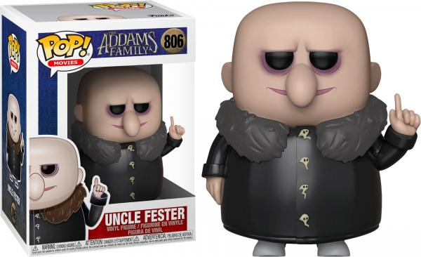 The Addams Family Animated Movie Uncle Fester Vinyl POP! Figure Toy #806 FUNKO