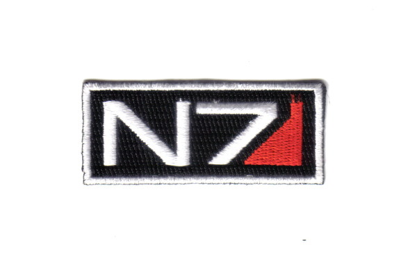 "Mass Effect 3 Game N7 Tactical Ops Logo 2.5"" Wide Embroidered Patch, NEW UNUSED"