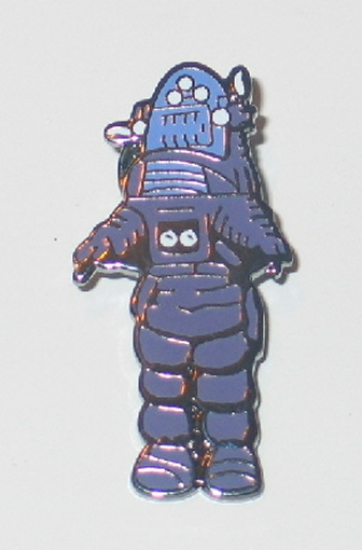 Forbidden Planet Robby the Robot Figure Cloisonne Metal Die-Cut Pin NEW UNUSED