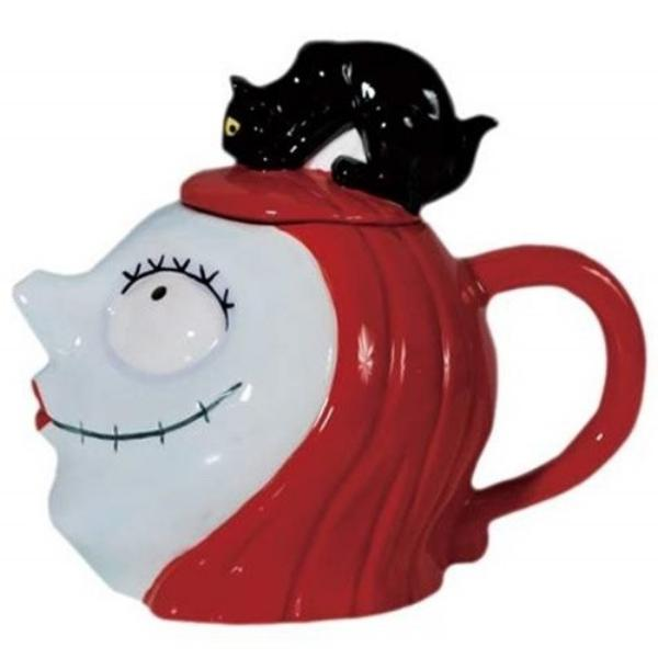 The Nightmare Before Christmas Sally Head with Cat Ceramic 32 oz Teapot UNUSED