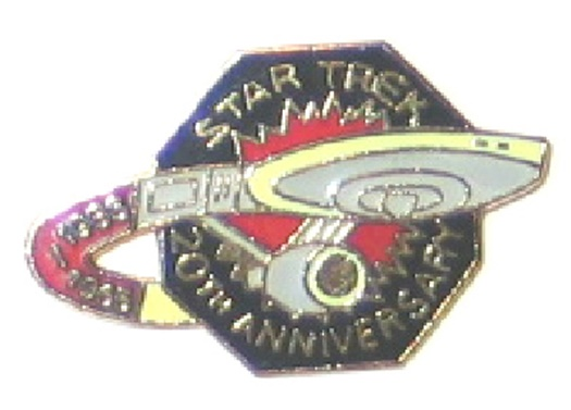 Star Trek 20th Anniversary Logo Metal Enamel Pin 1966-1986 NEW UNUSED