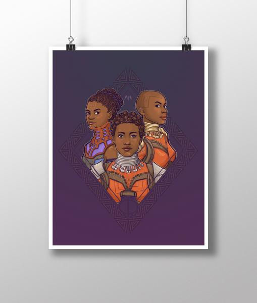 Wakanda Woman Medium Print