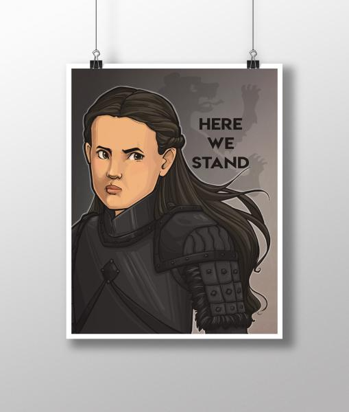 Here We Stand Medium Print