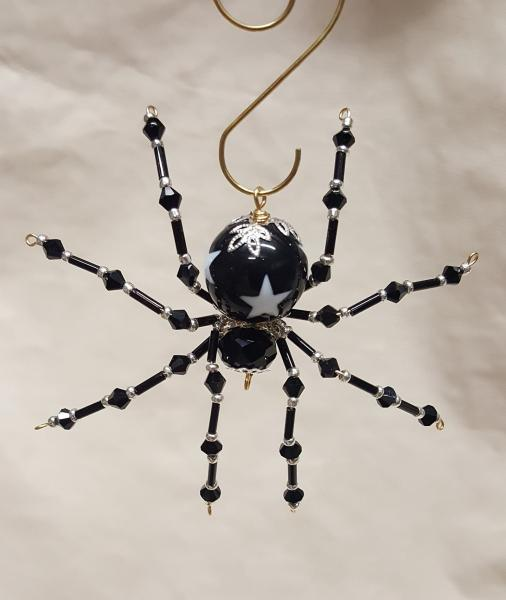 Steampunk/Christmas Black Star Beaded Spider