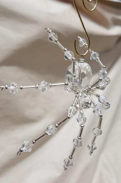Steampunk/Christmas Faceted Crystalline Ice Spider