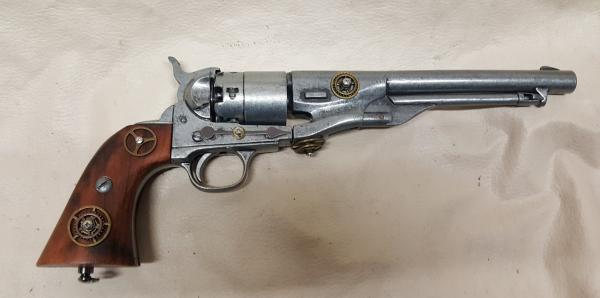 Damaged Steampunk 1860 Colt Army Non-Firing Revolver