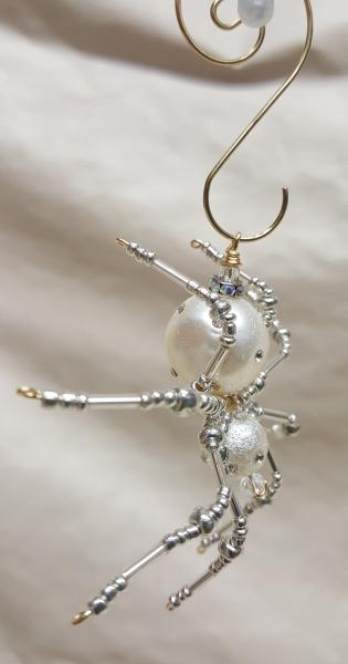 Steampunk Beaded Pearl Spider