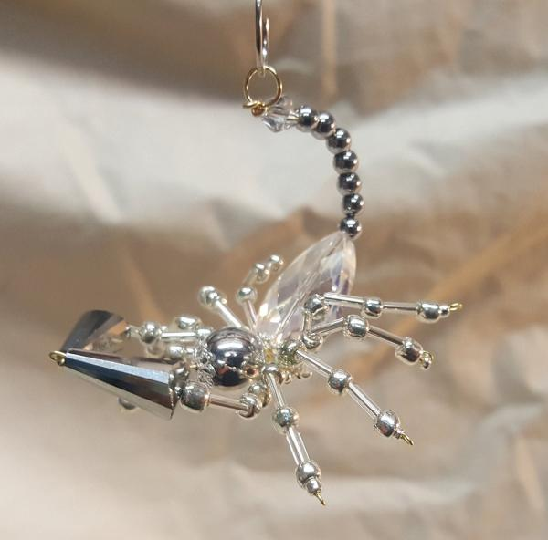 Steampunk Beaded Pewter Scorpion picture