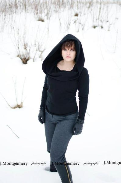 Cowl Hood Goth Top - Custom made to Order