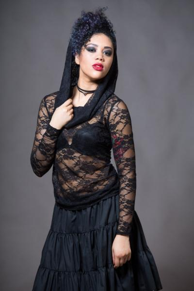 Lace Top With Hood - Gothy