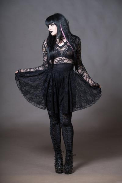 Lace Dress Gothy Sheer