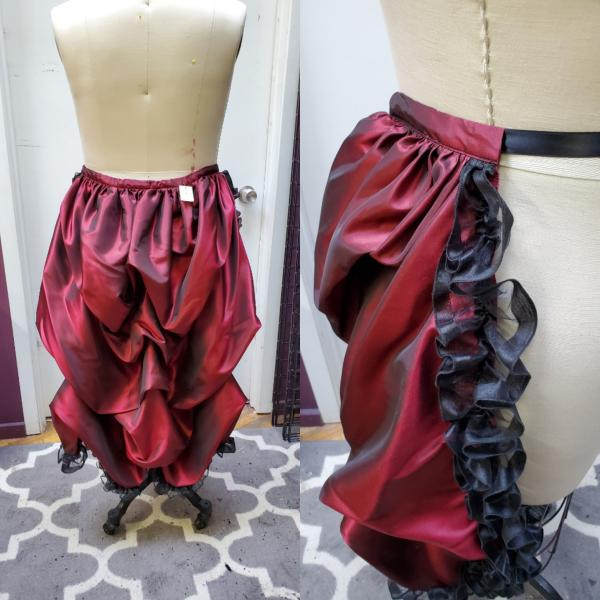 Red and Black Gothic Bustle - LIMITED