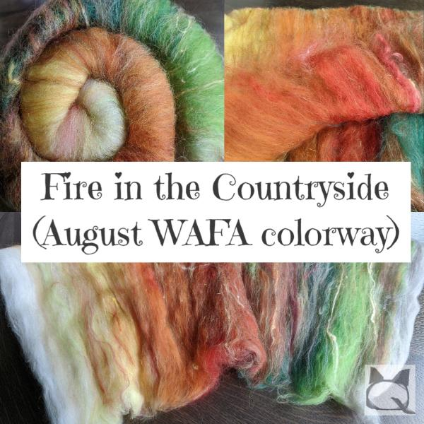 Fire in the Countryside (August WAFA colorway)