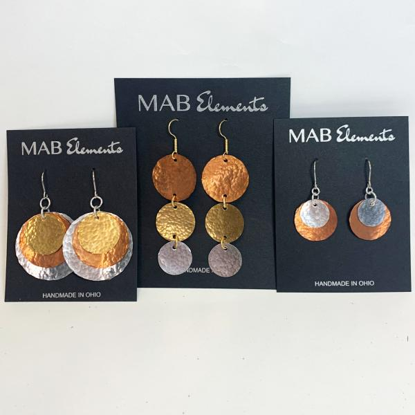 Large Triple Disc Earrings picture