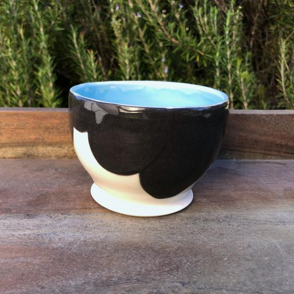 small blue silhouette bowl