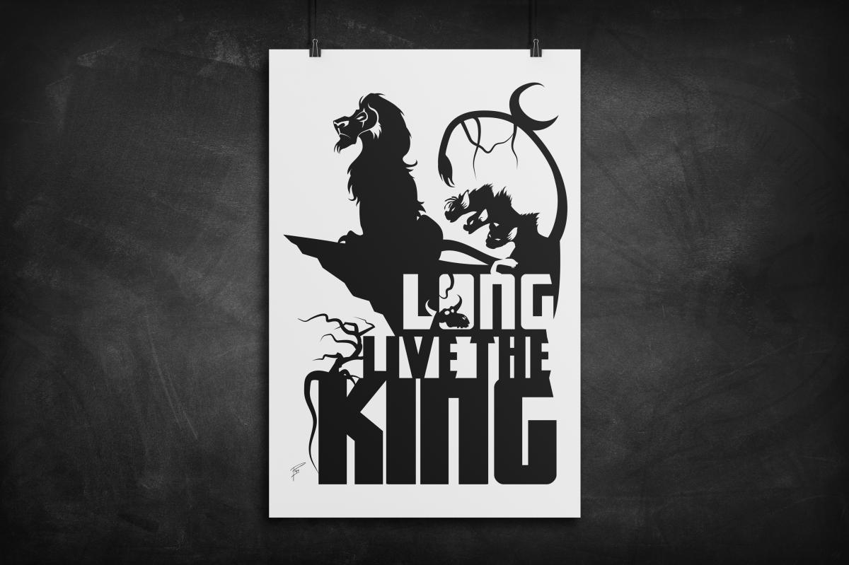 Long Live The King Lion King Silhouette Art Print Eventeny