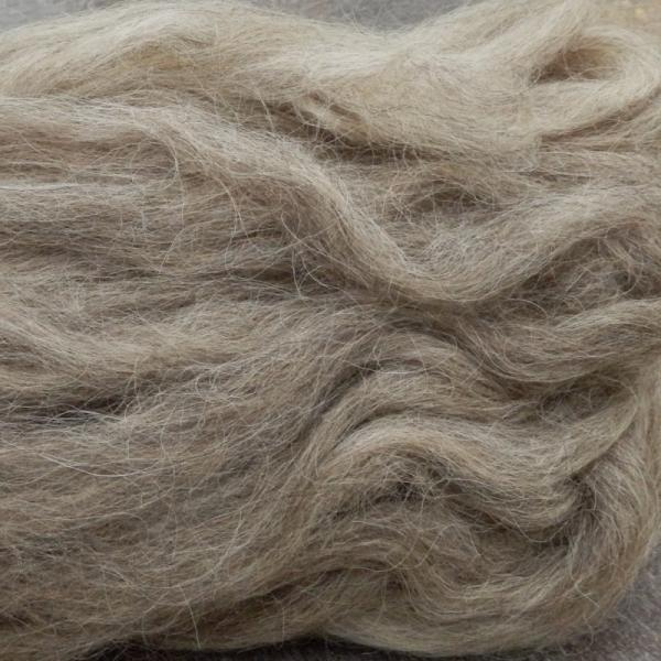 Karakul roving, undyed light gray, SW220