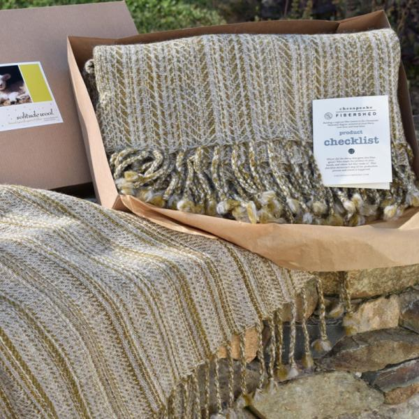 woven 100% local wool throws