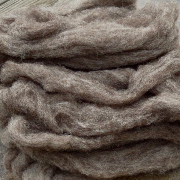 Jacob roving, undyed gray, SW719