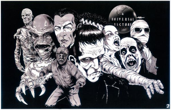 Classic Universal Monsters Print
