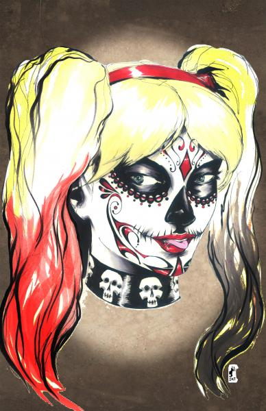 Harley Dames of the Dead Print