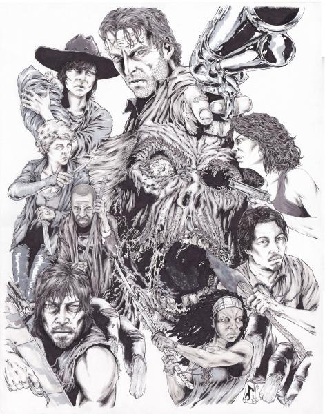 The Walking Dead Homage Print
