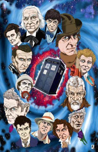 Dr. Who Homage Print