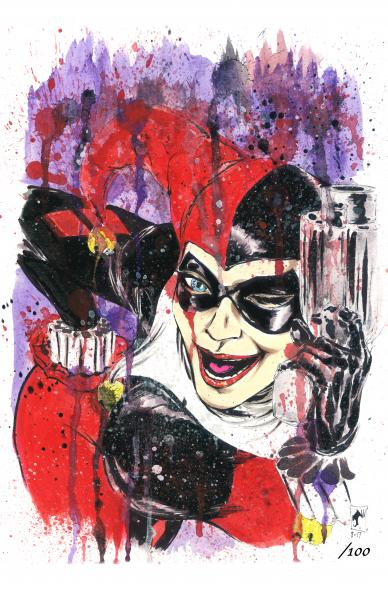 Harley Signed & Numbered Spatter Print