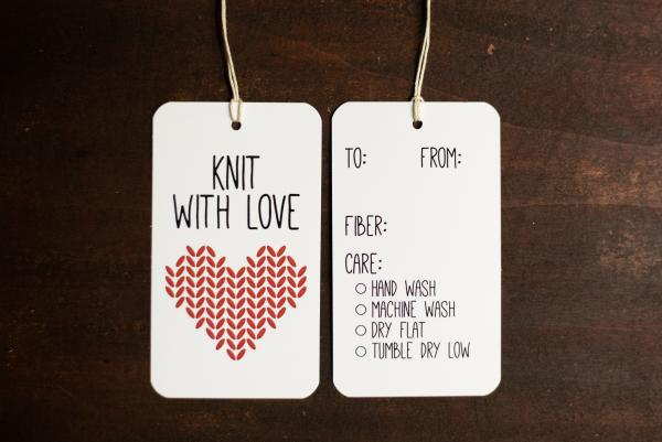 Knit with Love Gift Tags picture