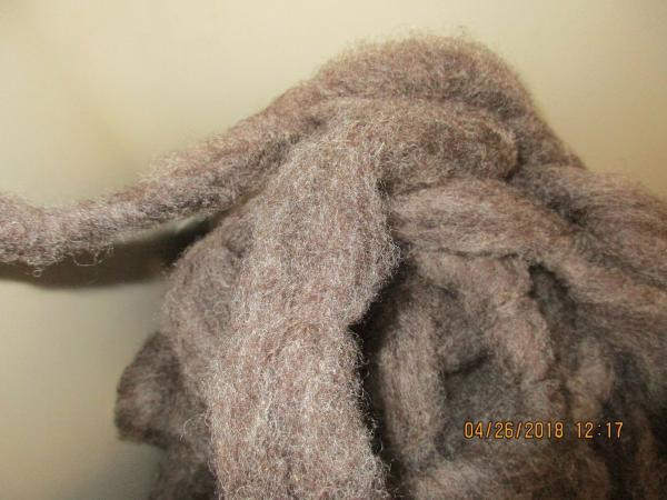 4 oz bags Dark gray washed Romney Wool Roving