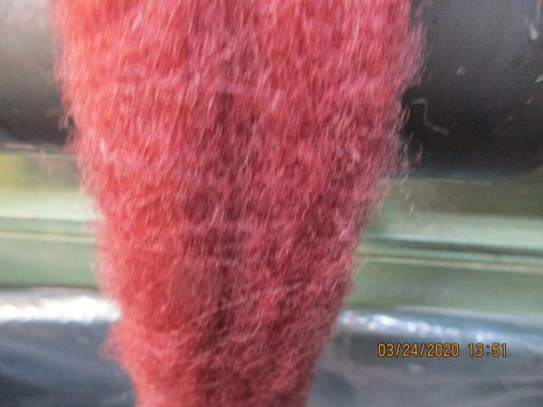 Scarlet Washed Texel Wool Roving - Free Shipping picture