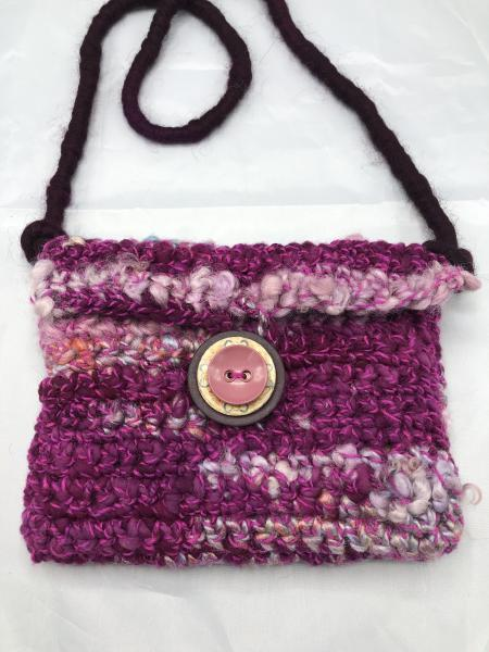 Art yarn handmade purse/evening bag