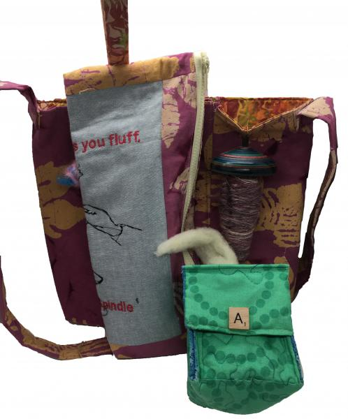 Drop Spindle Tote Set 004