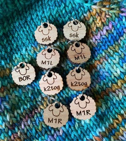 wood sheep stitch marker knitting notions Stitch marker for knitting
