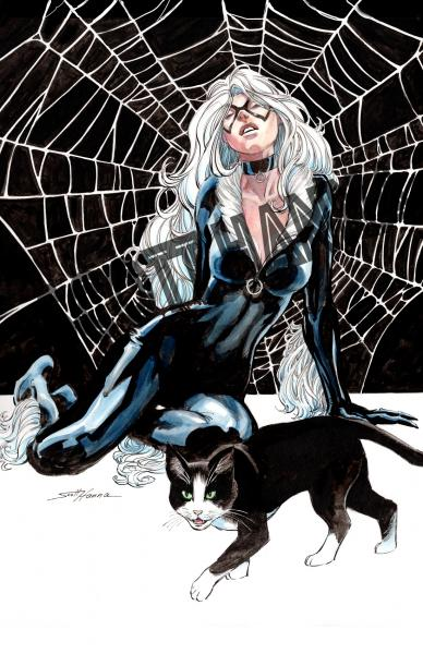 BlackCat Art Print large AL20