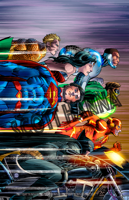 Justice League Art Print Lg AL23
