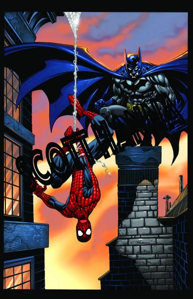 Batman Spider-Man Art Print Lg AL3