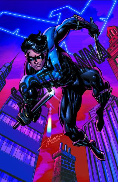 Nightwing Art Print large AL6