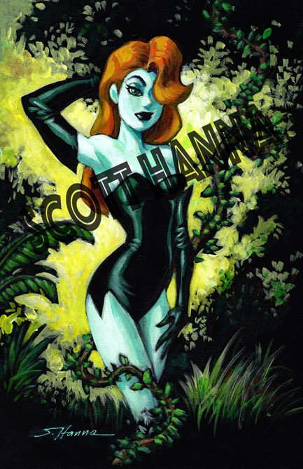 Poison Ivy Art Print large AL21