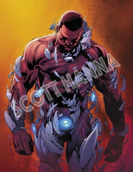 Cyborg Art Print large AL15
