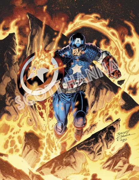 Captain America Art Print SM AS18