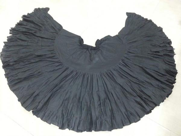 32 Yard Pure Cotton Skirt Black