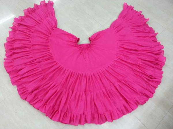 32 Yard Pure Cotton Skirt Hot Pink