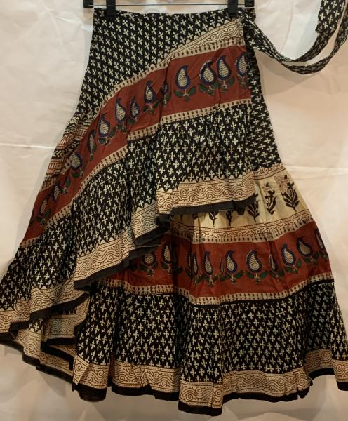 Half Block Print Wrap Skirt 32BPH