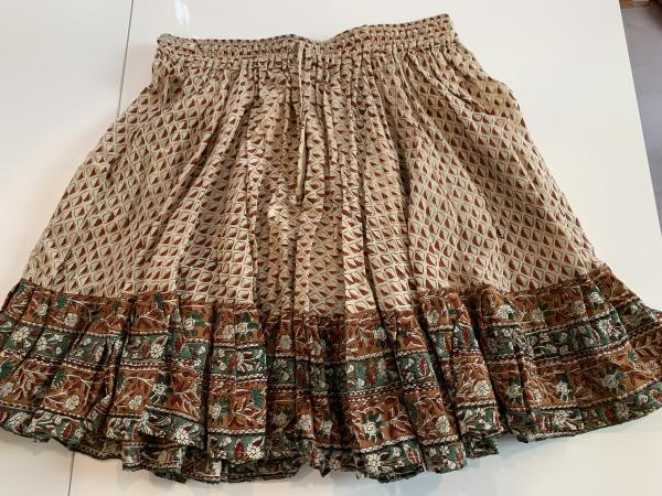 Block Print Mini Skirt #1