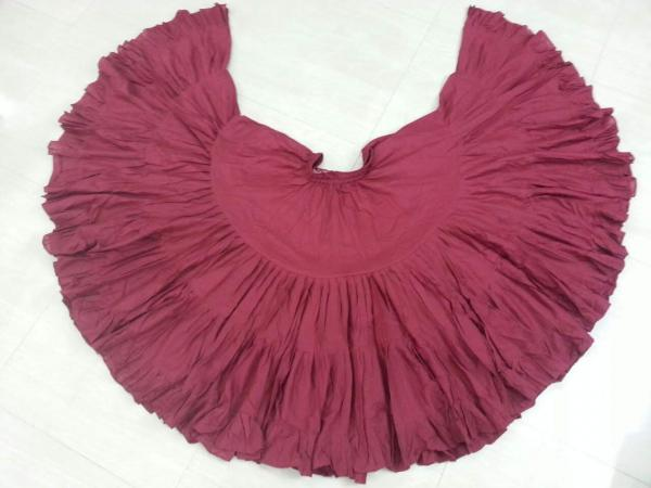 32 Yard Pure Cotton Skirt Maroon